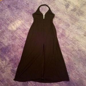 Dave & Johnny By Laura Ryner Black Halter Dress